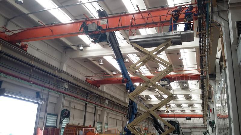 Manutenção ponte rolante demag